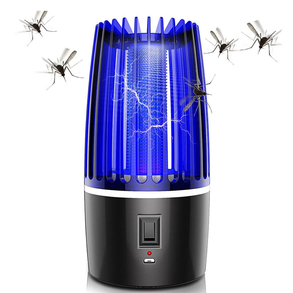 USB Electric Photocatalysis Mute Mosquito Insect Bug Zapper Trap Killer LED Lamp Fly Bug Repellent Anti Mosquito UV Night Light
