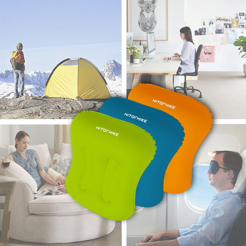 Ultralight Portable Outdoor Travel Camping Pillow Compressible Inflatable Cushion Soft Neck Protective HeadRest Pillow