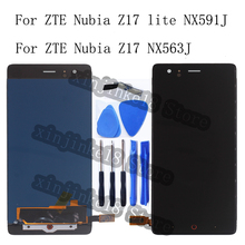 New display For ZTE Nubia Z17 lite NX591J LCD+Touch screen digitizer assembly For ZTE Nubia Z17 NX563J display repair parts jonsnow full coverage tempered glass for zte nubia z17 lite 5 5 inch protective film for zte nubia m2 lite screen protector