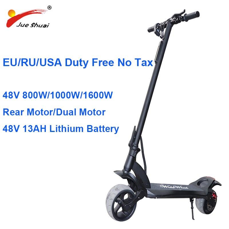 Patinete eléctrico potente de doble Motor de 48V y 1600W, Scooter plegable de 48V y 13Ah, patinete eléctrico para adultos