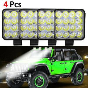 4Pcs 12V LED Car Work Light Fl