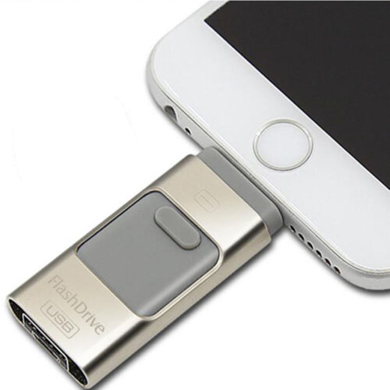 USB Flash Drive For IPhone 7 6s 6 Plus 5 S IPad OTG Pendrive 64GB 128GB 256GB Pen Drive HD External Storage Memory Stick USB 3.0