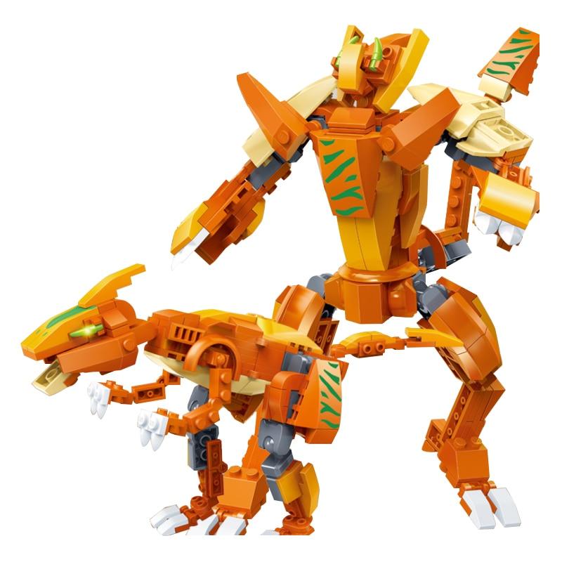 Pour LEGOing créateur 5-en-1 ensemble modèle 10 Types modifiables Mech dinosaure armure Robot jouet briques pour enfants cadeau pour LEGOing créateur - 6