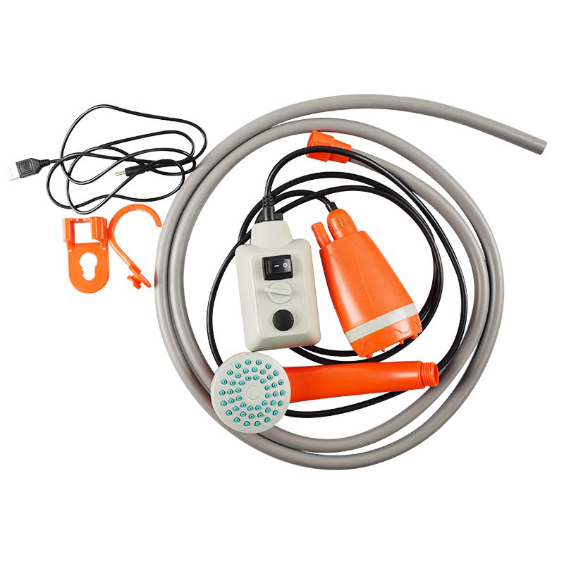 New Portable Car Washer Camping Shower USB Car Shower Washer Set Electric Pump For Outdoor Camping Travel Pet Dog Man Woman