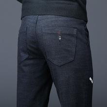 2019 moda mężczyźni spodnie Slim Fit wiosna lato wysokiej jakości biznesu płaskie klasyczne pełna długość cienkie spodnie typu casual męskie 38 tanie tanio Asstseries Ołówek spodnie COTTON Poliester Akrylowe Polar Na co dzień skinny Suknem Haft Zipper fly Pełnej długości