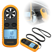New Digital LCD Wind Speed Gauge Anemometer Meter Portable Mini Temperature