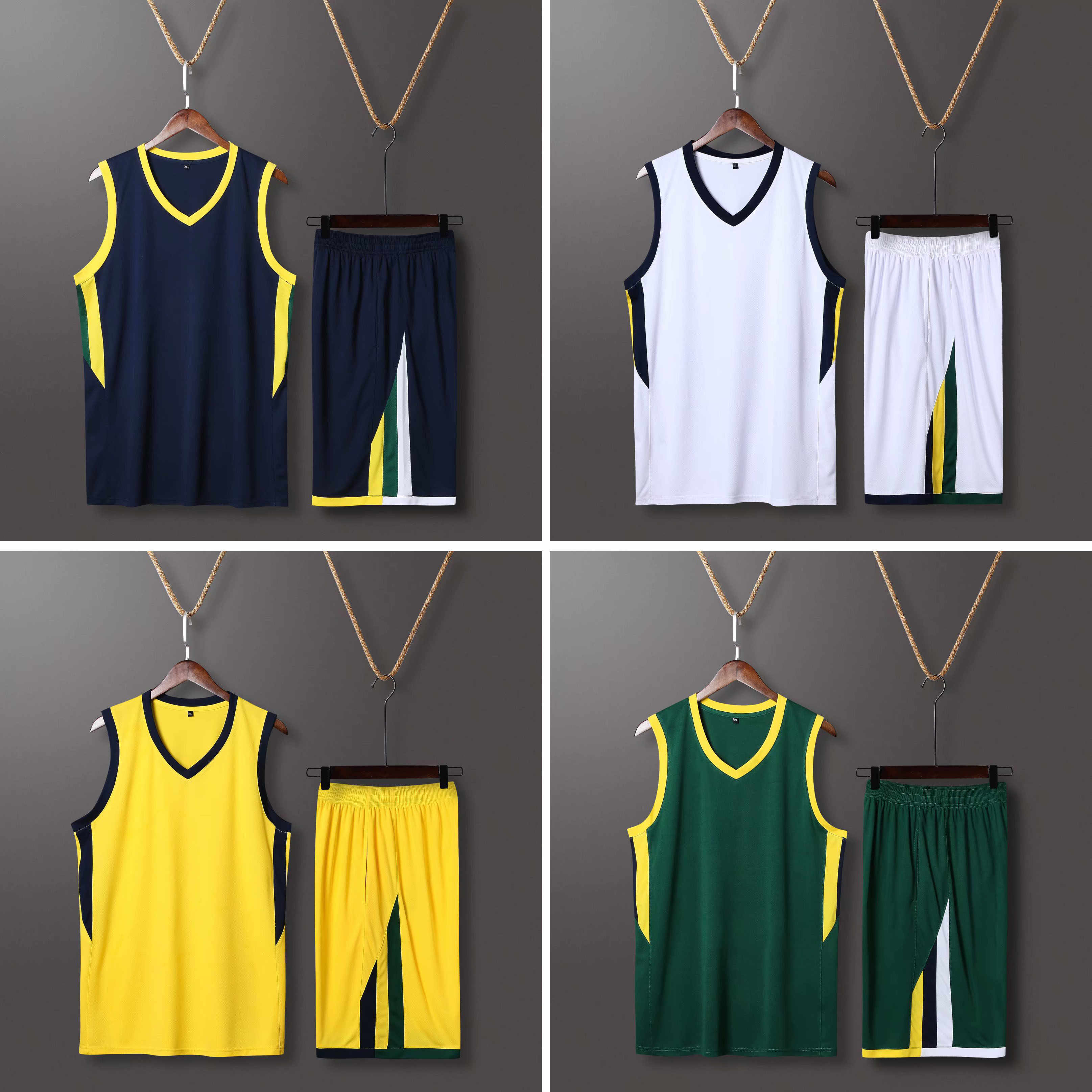 New Kid Men Throwback basketball Team jerseys sets USA college Kits Shorts Side Pocket , basketball Shirt uniforms customized