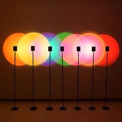 Moderno pôr do sol lâmpada de assoalho vermelho projeção criativo decoração colorida lâmpada chão quarto atmosfera luz iluminação interior para casa