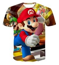 kids t shirt Racing pattern printing 3D t shirt Boys girls Funny hip hop streetwear Harajuku Classic games streetwear