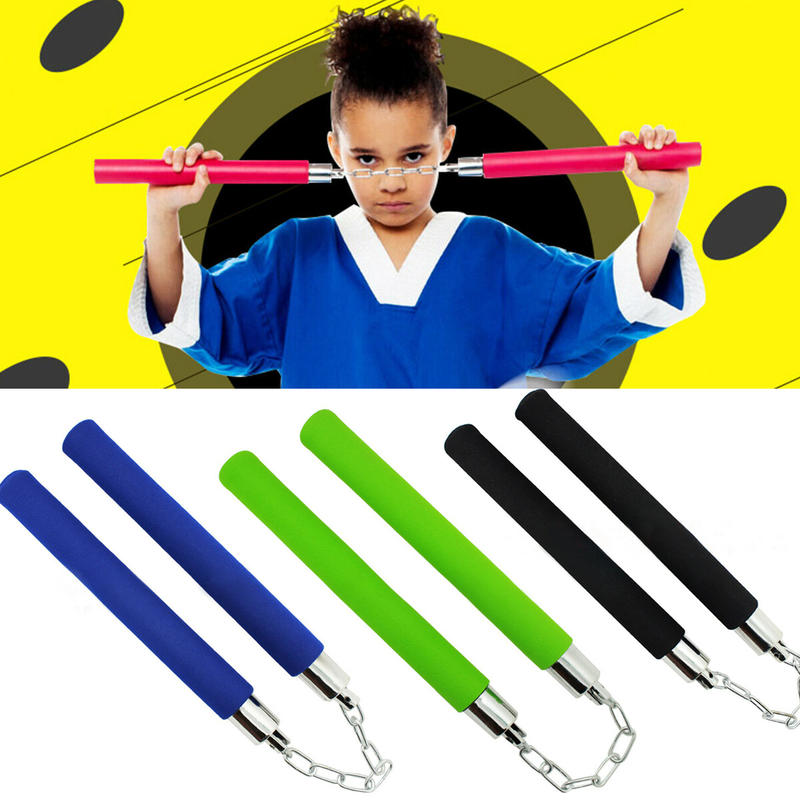 Foam Toy Nunchuck Ninja Weapon Martial Art Practice Train Tool Costume Accessory