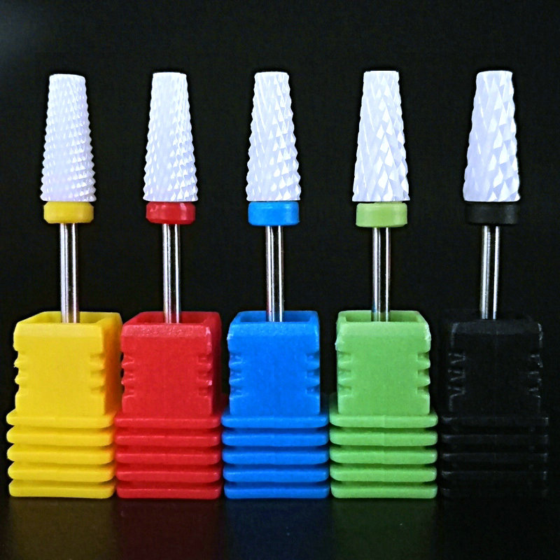 Electric Nail Drill Machine Drill Bits Ceramic Cuticle Clean Burr Nail Drill Bit Rotary Milling Cutter For Manicure Pedicure