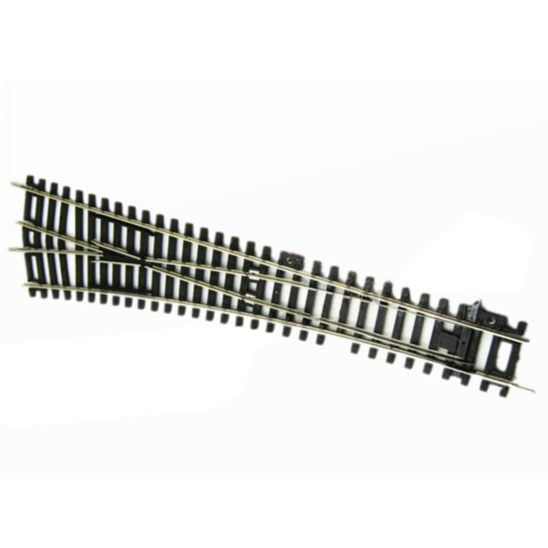 1:87 HO Scale WL Left Bifurcation Track For Train Model - Black