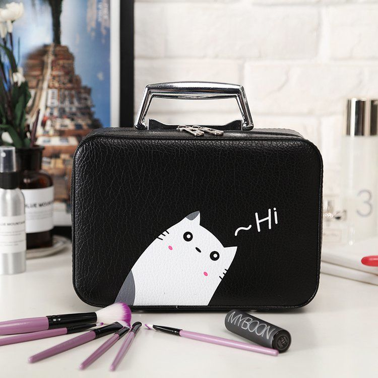 Professional Women Makeup Organizer Travel Beauty Cosmetic Case For Make Up Lady's Storage Bag Nail Tool Box Suitcases