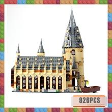 цена на 926pcs Harri Movie Great Hall Castle Magic School Voldemort Marvel Building Blocks Bricks 75954 Toys Figure for Children Gifts