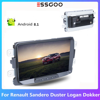 Essgoo 8'' Car Radio 2 din Android 8.1 Autoradio Car Multimedia Player GPS Navigation For Renault Sandero Duster Logan Dokker image