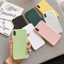 NJIEER Solid Color Suitcase Phone Case For iPhone X XS Max XR 7 6 6S 8 Plus Candy Ultra thin Soft Silicon Shockproof Cover
