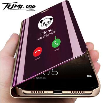 Mi błąd etui na telefony z klapką dla czerwony mi uwaga 8 7 6 5 Pro 4 4A 4X 6A 5A Prime wyraźny widok etui na Xiaomi mi 9 SE 8 A1 A2 Lite 5X 6X tanie i dobre opinie TUMI OvO Etui z klapką Sport Błyszczący Zwykły Biznes stand Luxury Smart Sleep Mirror Leather Case redminote7 note7 purple