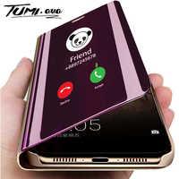 Mirror Flip Phone Case for Redmi Note 8 7 6 5 Pro 4 4A 4X 6A 5A Prime Clear View Cover for Xiaomi Mi 9 SE 8 A1 A2 Lite 5X 6X