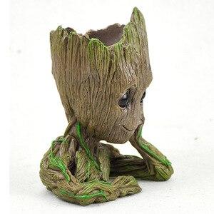 Image 5 - Bambino Groot Vaso di Fiori Vaso di Fiori Fioriera Figurine Albero Uomo Modello Carino Giocattolo Penna Vaso Da Giardino Fioriera Vaso di Fiori Regalo per bambini