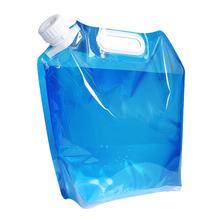 Portátil dobrável portátil handheld 5/10 litros de água potável ao ar livre recipiente de acampamento balde saco de água