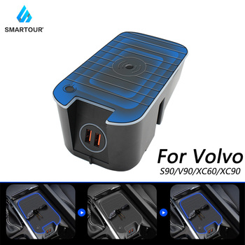 Smartour 10W car QI wireless charging phone charger for Volvo XC90 XC60 S90 V90 V60 C60  charging plate for iPhone for Samsung