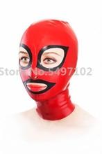 Латексная Маска на молнии сзади, привлекательные латексные костюмы, красная латексная маска толщиной 0,4 мм