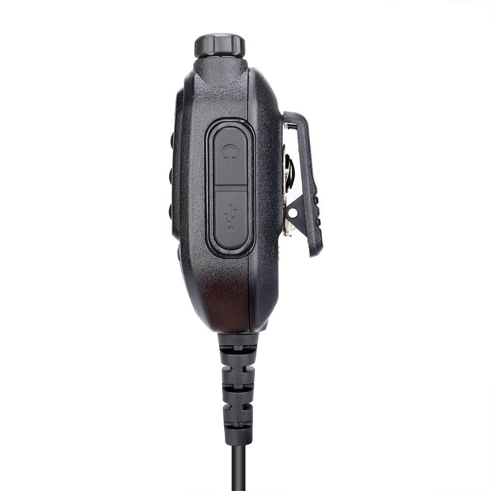New HK008 Kenwood 2-Pin Plug Handheld Microphone Speaker with Adjustable Volume Knob