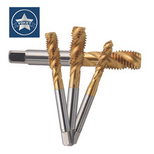 HSSE With TIN Fine Thread Spiral Fluted tap M10 M11 M12 M14 M16 M18 M20 M22 X0.75 X1 X1.25 Metric Machine Screw Thread taps