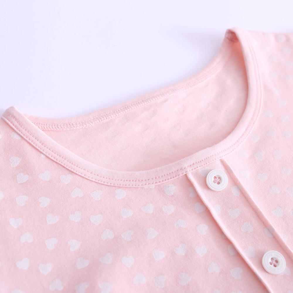 Retail 3-14 Years Short-Sleeves Cotton Childrens Home Wear Nightdress Girl Pajamas Autumn Fall Summer
