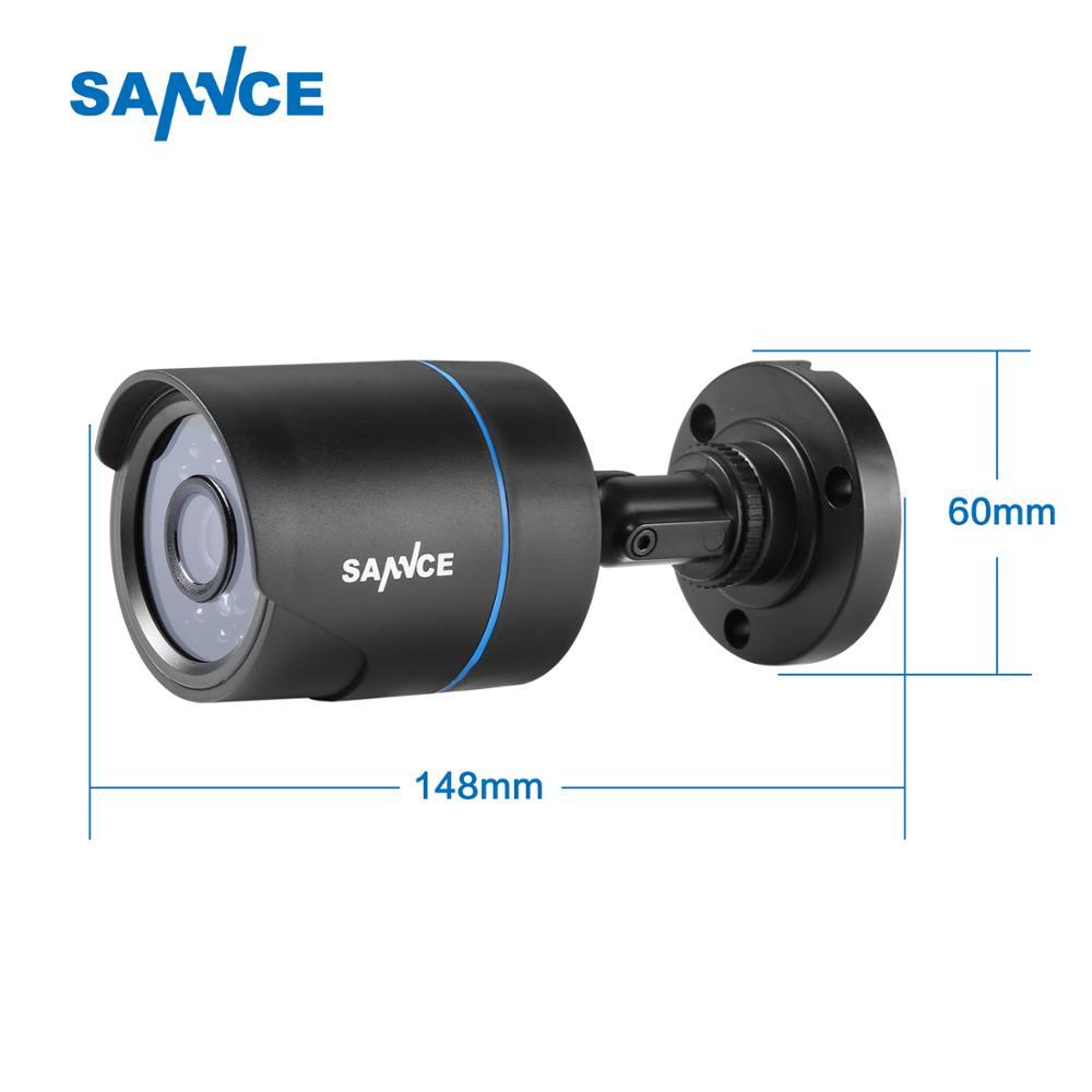 SANNCE HD 720P AHD Video Security Home CCTV Camera Kit 1PCS Camera Set Smart IR-CUT IP66 Outdoor Weatherproof 66FT Night Vision