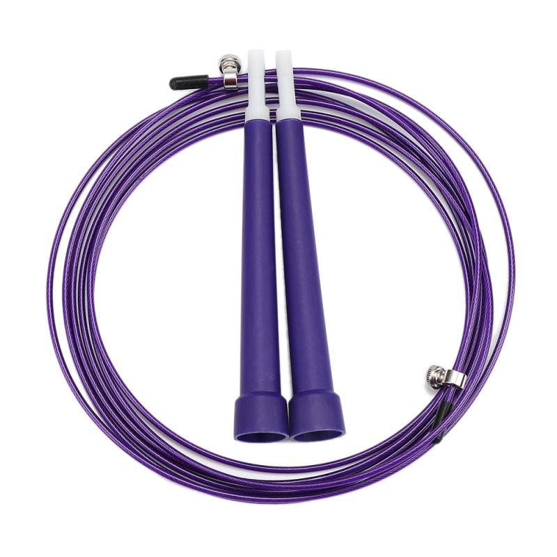 Women High Speed Aerobic Steel Wire Skipping Rope 3M 6