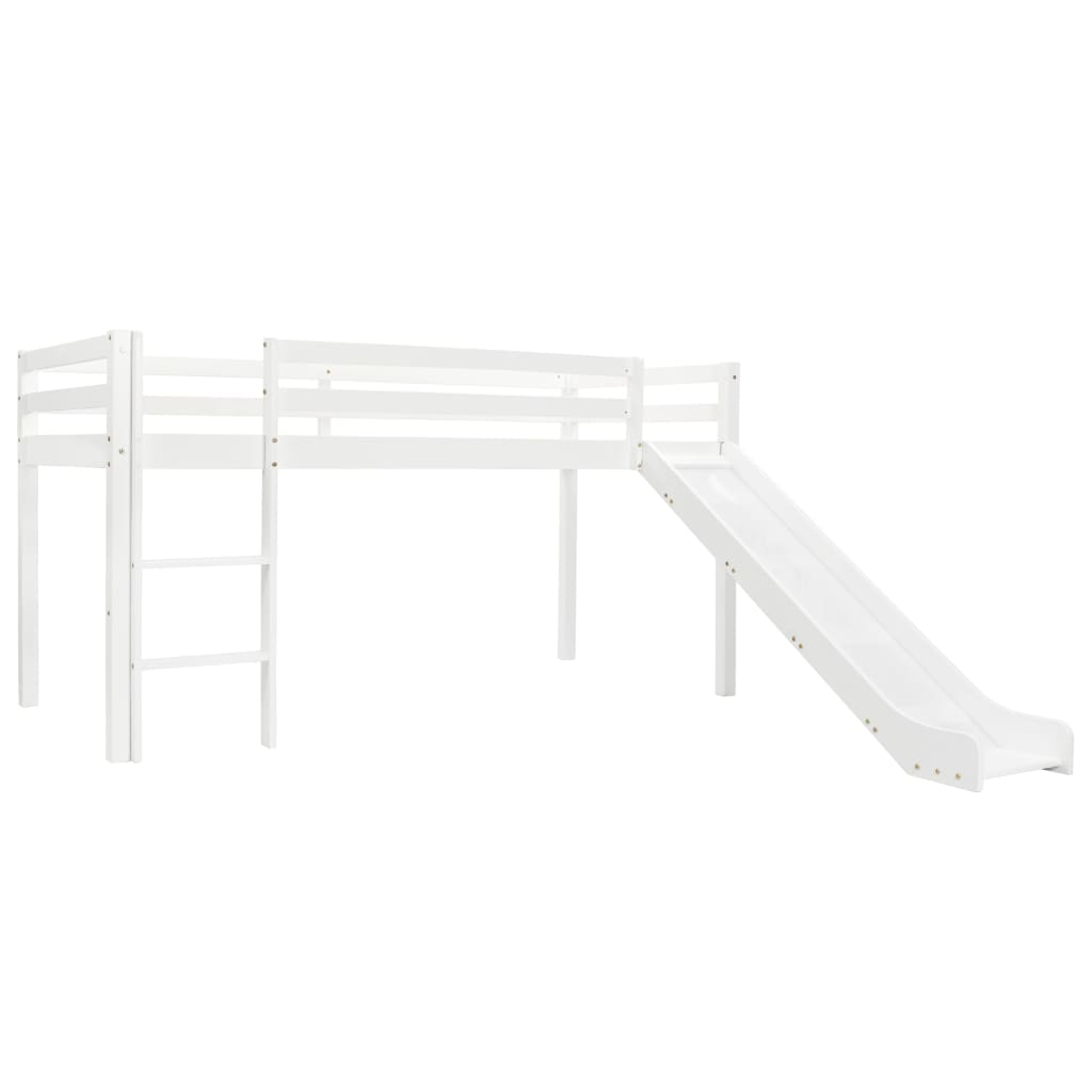 VidaXL Children's Loft Bed Frame With Slide & Ladder Pinewood 97x208 Cm
