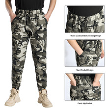 Men Streetwear Casual Sport Sweatpants Military Pants and T shirt Camouflage Cargo Pants Tactics Length Trousers