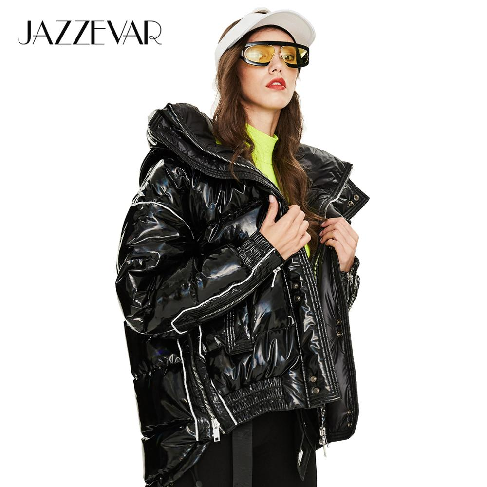 JAZZEVAR 2019 Winter new arrival   down   jacket women loose clothing outerwear quality thick cotton with a hood winter   coat   women Y