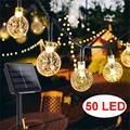 Солнечный садовый светильник уличный Водонепроницаемый 50LED Фея светильник s 8 Режим 7 м солнечный светильник для сада патио для благоустройс...