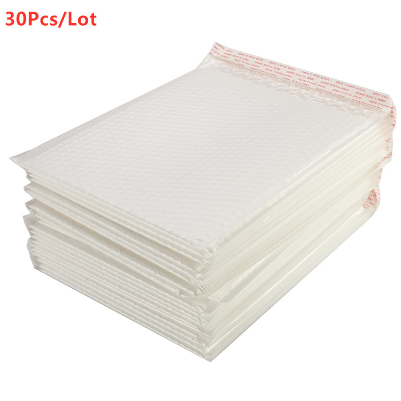 50/30/10/5 PcsDifferent Specifications Matte White Bubble Film Envelope Bag Foam Express Delivery Packaging Mailing Envelope Bag