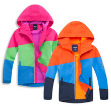 Winter Fleece Softshell Boy Girl Compass Waterproof Jackets Children Camping Skiing Windbreaker Clothes Kids Sports Hiking Coats(China)