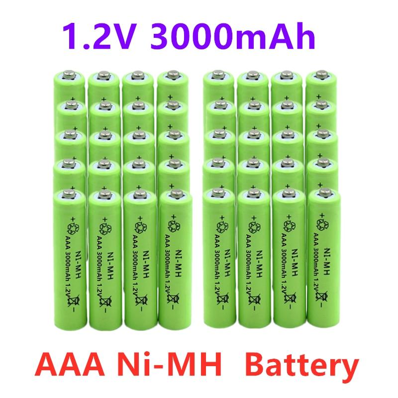 4-40 Uds batería AAA de 1,2 v 3000mah NIMH, AAA bajo la descarga de la batería recargable AAA baterías para linterna Juguetes