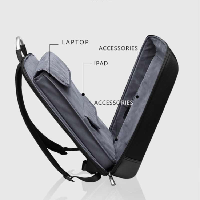 Erkek sırt çantası 15.6 inç dizüstü mochilas iş Anti hırsızlık büyük kapasiteli erkek seyahat sırt çantası okul çantaları genç sırt çantası