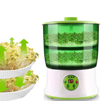 220V Intelligent Bean Sprouts Machine Double Layer Automatic Home EU High Capacity Thermostat Soybean Green