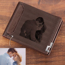 Direct Selling Wallet Mens Custom Pattern Engraving Short Double Folding Forever Young Wallets For Men
