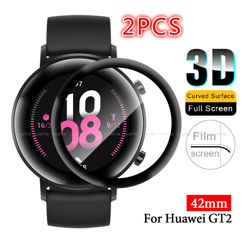 2 PCS Full Cover Hydrogel Film Anti Fingerprint For Huawei GT2 42mm Ultra Thin Smart Watch Screen Protector For Huawei GT 2 42mm