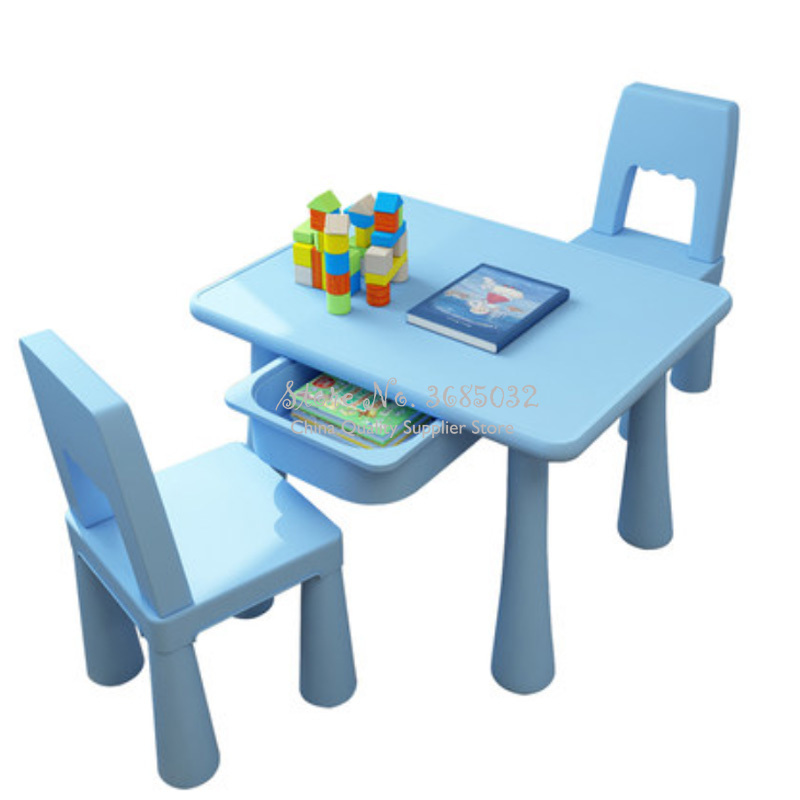 Pink Children's Table And Chair Set Kindergarten Table And Chairs Baby Study Table Home Writing Toy Table