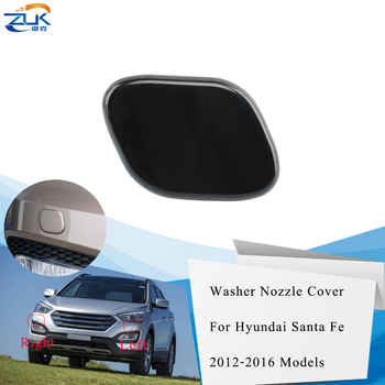 ZUK Front Bumper Headlight Washer Nozzle Cover Washer Cap Shell Case For Hyundai For SantaFe / IX45 2013 2014 2015 2016 image