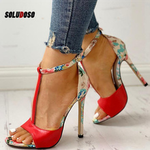 Women Sandals T-Strap High Heels Sandals Chaussures Femme Sexy Stripper Shoes Women Heels 2020 New Peep Toe Summer Shoes Female цена 2017