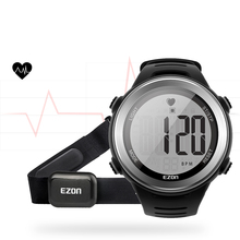 Waterproof Heart Rate Monitor Digital Watch Alarm Stopwatch Men Women Outdoor Running Sports Watches with Chest Strap