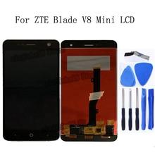 ل zte شفرة V8 البسيطة شاشة الكريستال السائل + محول الأرقام بشاشة تعمل بلمس استبدال اكسسوارات ل zte V8mini LCD الهاتف أجزاء طقم تصليح