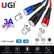 usb cables for iphone type c micro usb for samsung s9 s8 usb c multi function key chain portable charging sync data cord charger Magnet USB C Charging Cable Micro USB Type C Fast Sync Data Charger Cable For Samsung S8 S9 S10 Android IOS Mobile Phone Cable