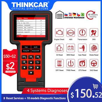 Thinkcar TS609 OBD2 Scanner ECM TCM ABS SRS System Diagnostic tool with Oil Brake TPMS SAS ETS Injec BMS DPF Reset free update launch x431 pro mini with bluetooth function full system 2 years free update online mini x 431 pro powerful auto diagnostic tool