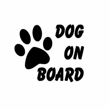 14.5x12CM Pet Dog on Board Car sticker Stylish Cute Reflective viny sticker decals Truck Auto decor for bmw Volkswagen car sty image